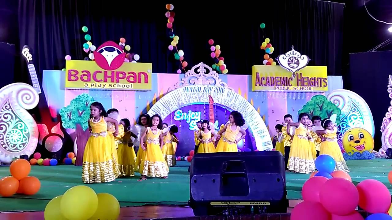 Bachpan annual day 2016 youtube for Annual function decoration