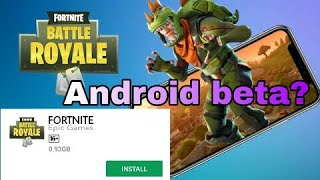 Fortnite Battle royale on Android ! How to download fortnite on android mobile?Fortnite beta version