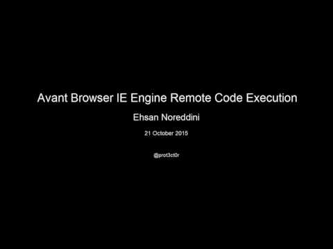 Avant Browser IE Engine Remote Code Execution