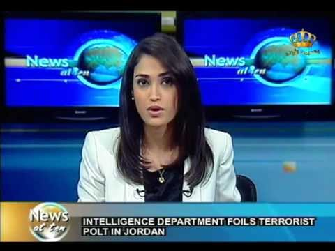English News at ten in Jordan Television - 21-10-2012