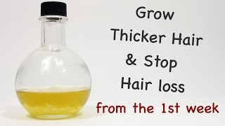 Grow Thicker Hair Fast and Stop Hair Loss