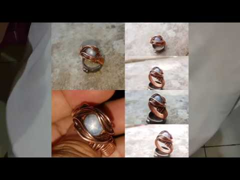 PAID Tutorial : How to make Wire Wrapped Ring using Cabochon|