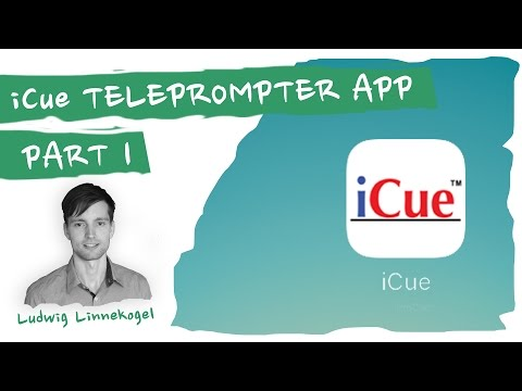 iCue Teleprompter App PART 1 CONTROLS full review for making