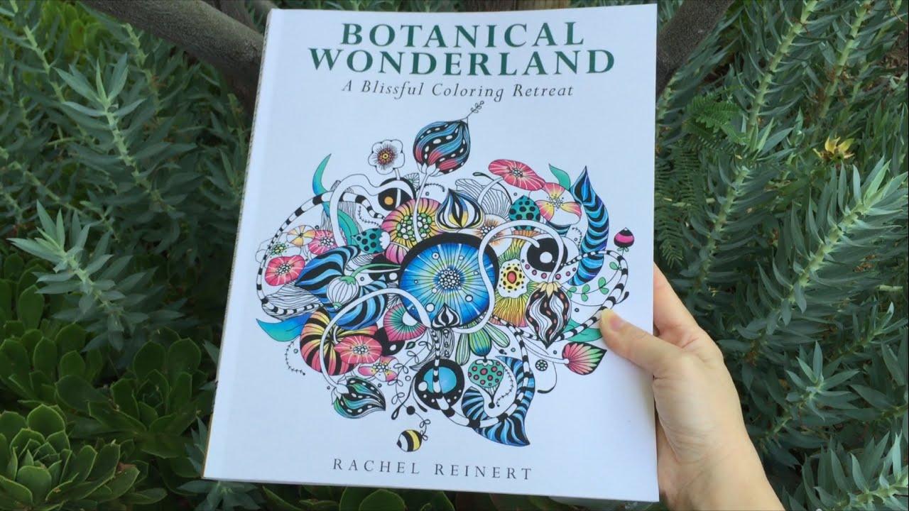 Flip Through Botanical Wonderland Coloring Book | A Blissful ...
