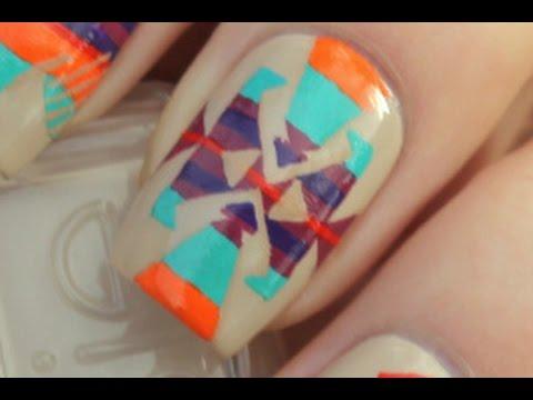 Aztec Nails (Design 1 of 4)