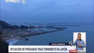 Situación de peruanos tras terremoto en Japón