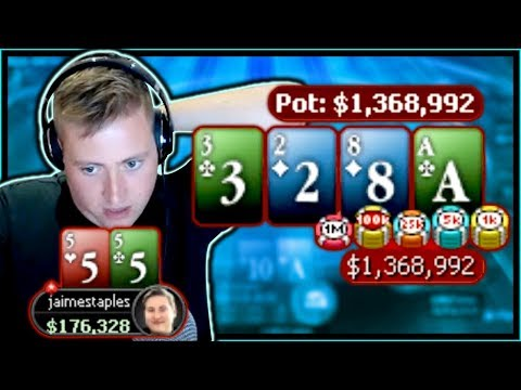 GOING WITH MY GUT FOR A 1,300,000 CHIP POT!! | PokerStaples Stream Highlights