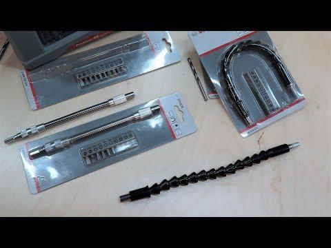Видео обзор: Держатель для бит BOSCH Гибкий удлинитель 200 mm + 10