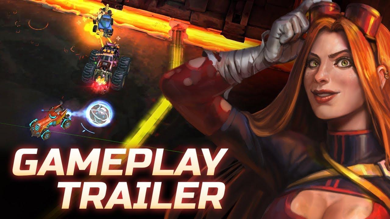 В Steam вышел Heavy Metal Machines — бесплатный MOBA-экшен с машинками, героями-психами и тяжелой музыкой