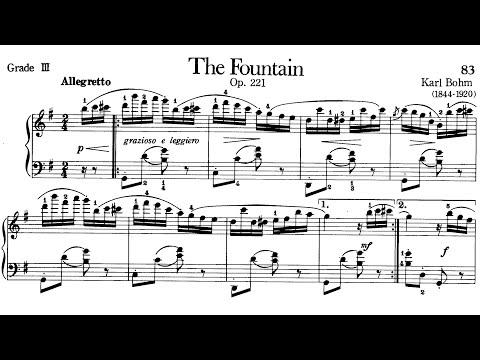 Piano Pieces for Children Grade 3 No.14 Bohm Op.221 The Fountain (P.83) Sheet Music
