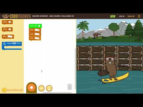 Coding for Elementary School Kids - Beaver Achiever (One Hour of Code Free from codemonkey)