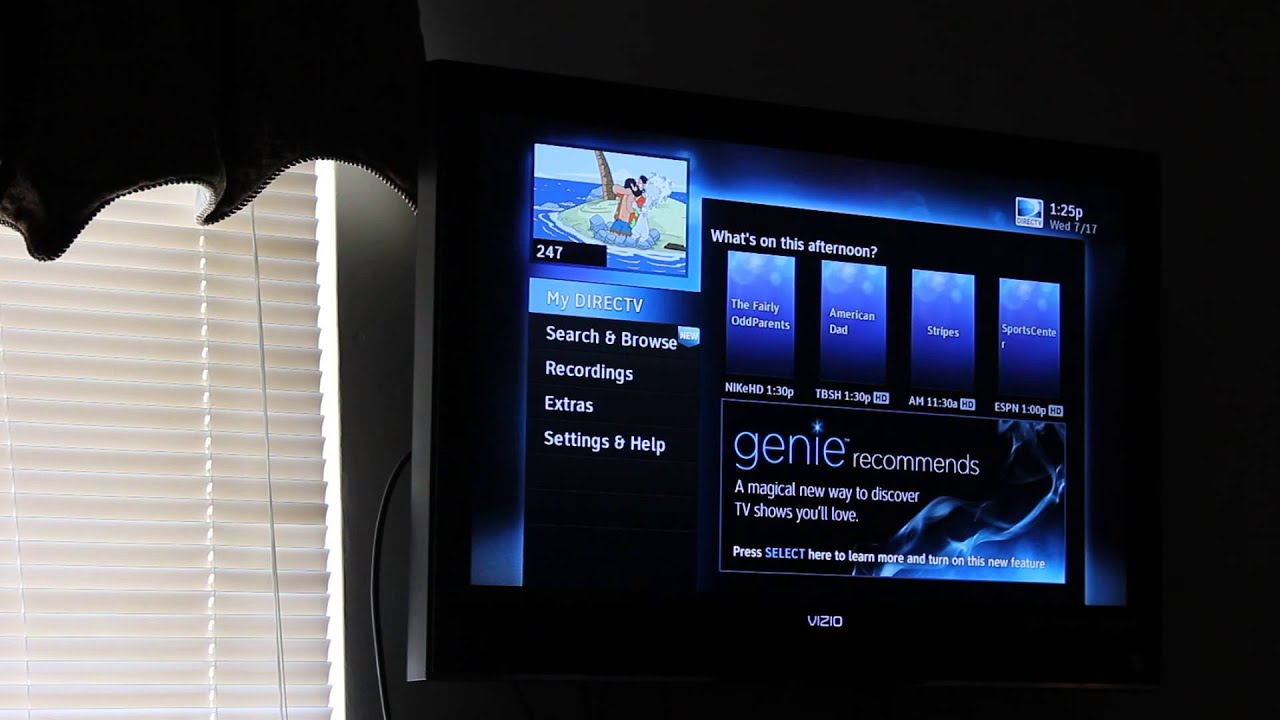 How To Remove The Grey Bars On Your Directv Genie Youtube