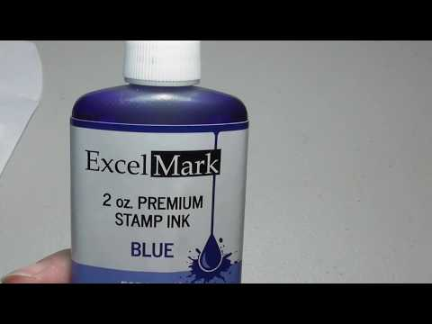 How to take Apart Re-ink add new ink to Self Inking Rubber Stamp with Excel Mark Ink Review