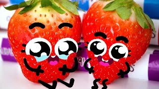 BABY SHARK SONG 🍓🍓 | Cute Food Doodles Compilation #23