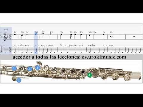 Como Tocar en la Flauta Travesera Titanic My Heart Will Go On - Notas musicales, Tablatura tutorial