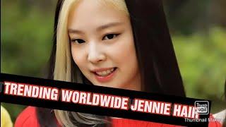 SBS BLACKPINK JENNIE HAIR TRENDING WORLDWIDE
