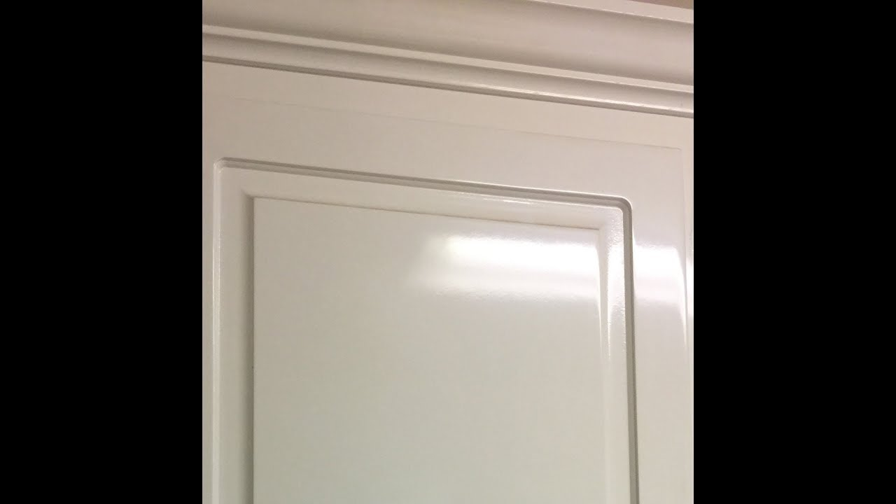 How To Paint Laminate Cabinets   Rethunk Junk Tutorial
