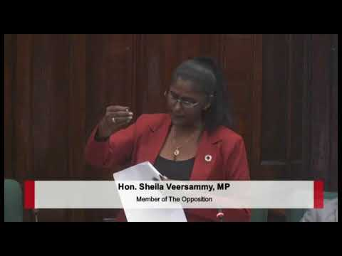 Budget 2018 debate presentation by PPP/C MP Sheila Verasammy