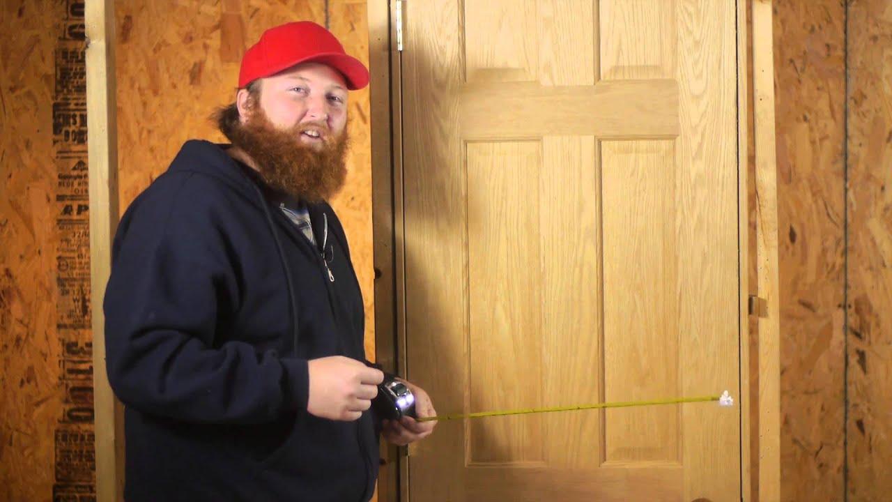 & Measuring Doors for Replacement : Door Installation u0026 Repairs - YouTube