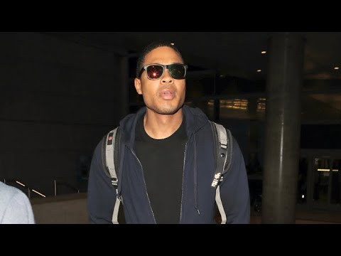 Actor Ray Fisher Looking Pretty Down To Earth For A 'Cyborg' At LAX