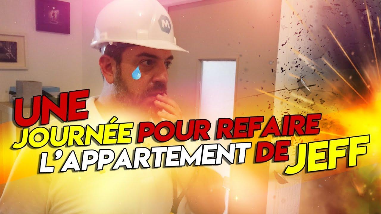 UNE JOURNÉE POUR REFAIRE L'APPARTEMENT DE JEFF !