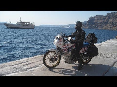 [Slow TV] Motorcycle Ride - Santorini (Cyclades - Greece)