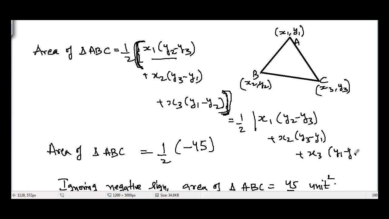 How To Find Area Of Triangle If Vertices Of Triangle Are Given To Us?