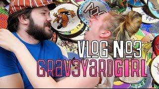 EPIC POG BATTLE! 90s TOYS! | VLOG #3 | GRAV3YARDGIRL