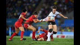 Emily Scarratt England Rugby Football Super League Sevens 7s Series World Cup Match Highlights 2018