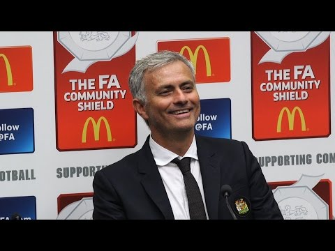 Press Conference With Jose Mourinho Following The Community Shield Win