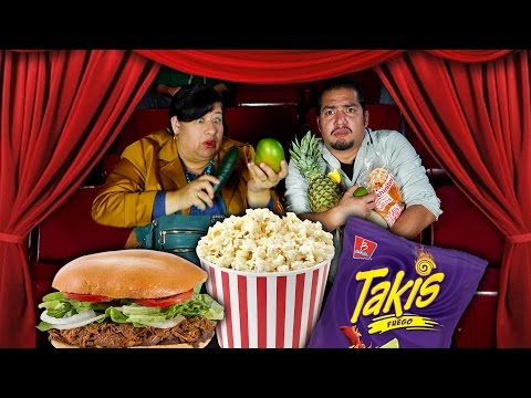 Mexican Mom SNEAKING FOOD into the THEATER | mitú