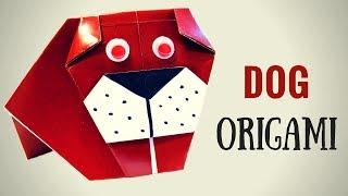 Оригами. Собака бульдог из бумаги! Поделки животные! - Hand made
