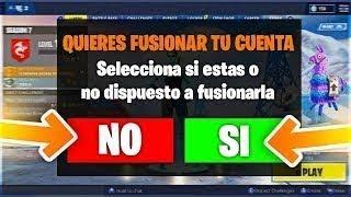 Cómo CONSEGUIR *PAVOS GRATIS* FUSIONANDO CUENTAS en Fortnite!!   FUSIONAR CUENTAS en Fortnite!
