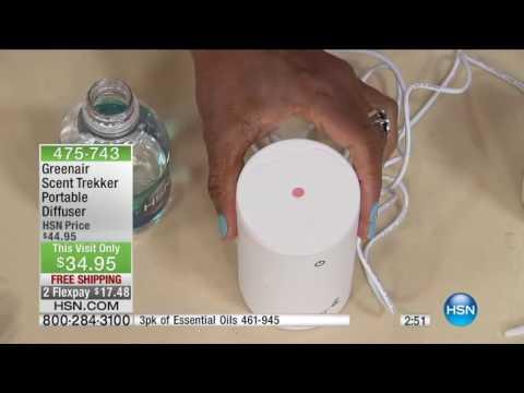 Greenair Scent Trekker Portable Essential Oil Diffuser Set 5 3 16 Alyce Caron
