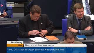 """Bundestagsdebatte zum Thema """"Deutsch als Landessprache"""" am 02.03.18"""