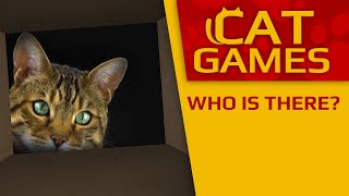 CAT GAMES - Who is there? (Videos for Cats to watch) 1 Hour 60FPS