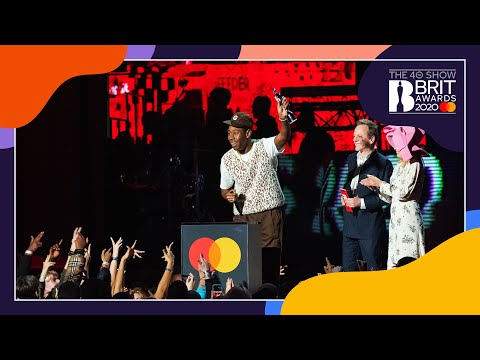 Tyler, The Creator wins International Male Solo Artist | The BRIT Awards 2020