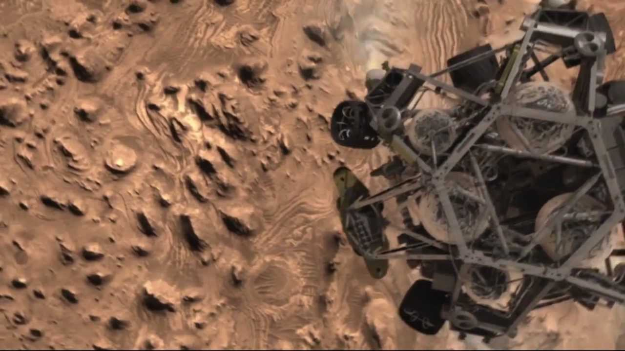 The Curiosity Rover Landing - YouTube