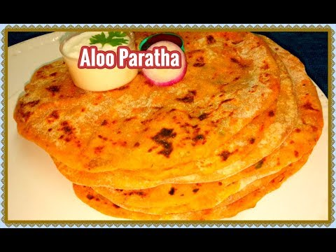 Aloo Paratha Recipe in Telugu-Restaurant Style Aloo Stuffed Masala Paratha-Kids favorite recipe-