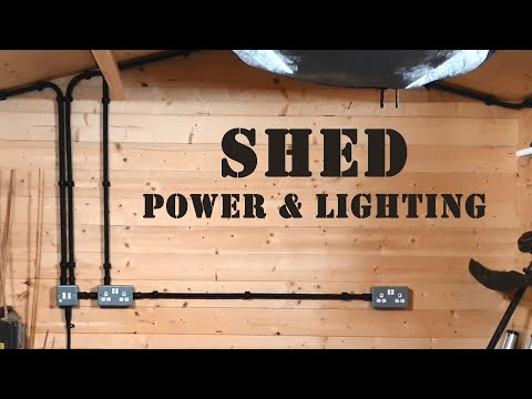 SHED REWIRE - Power and Lighting