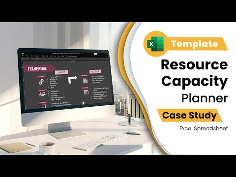Resource Capacity Planner - Excel Template - Team Capacity  (Hours) Planning