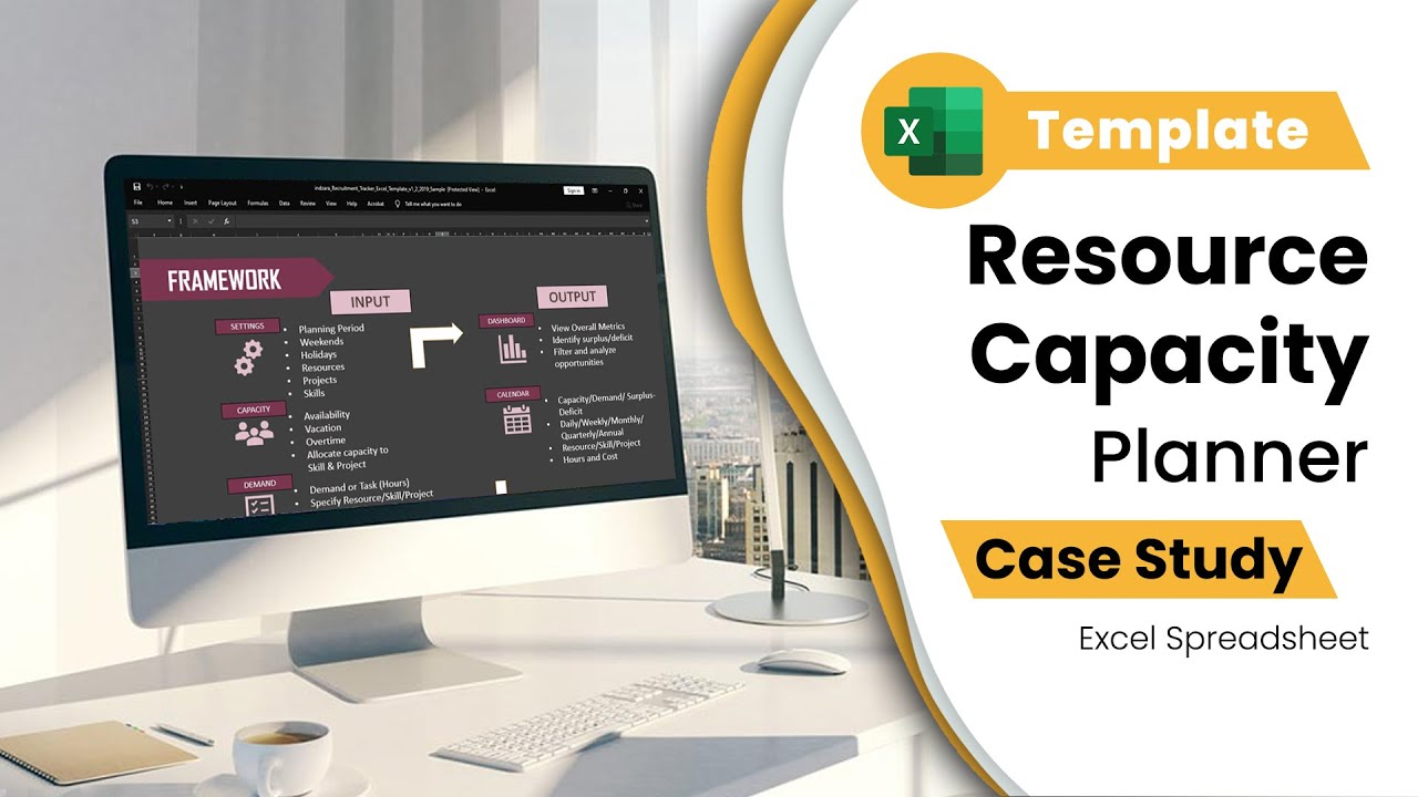 Resource Capacity Planner - Excel Template - Team Capacity (Hours ...