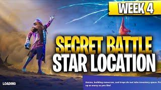 WEEK 4 SECRET BATTLE STAR LOCATION GUIDE! - Fortnite Find the Secret Battle Star in Loading Screen 4