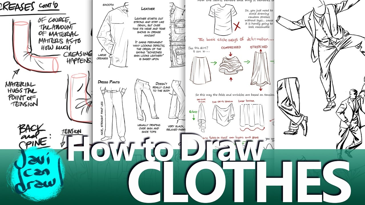 top 5 tutorials for drawing clothes youtube