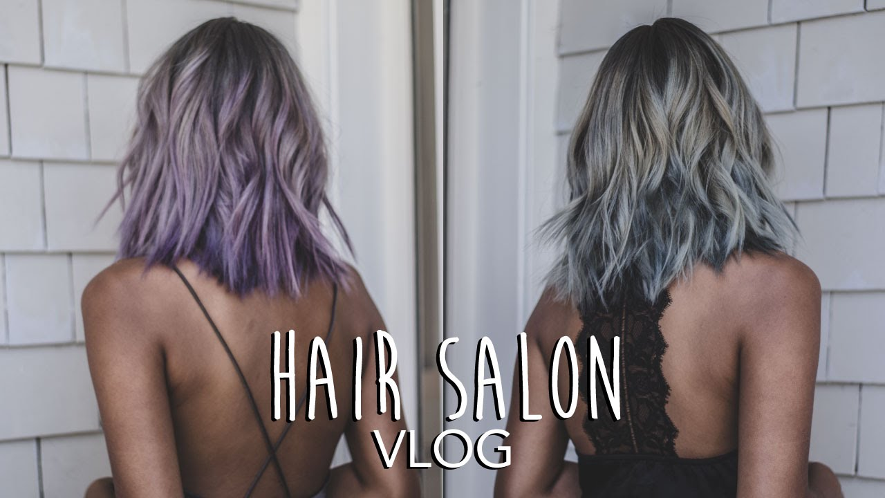 Hair Salon Vlog From White Blonde To Lavender Balayage To Silver Grey Hair