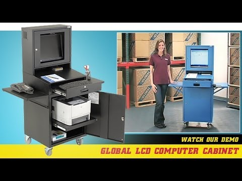 Global LCD Mobile Computer Cabinet