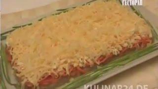 Салат из говяжьей печени и моркови по корейски