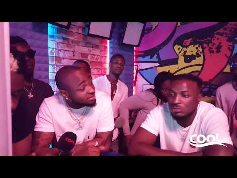 DAVIDO, MAYORKUN, DREMO, DJ E COOL, YONDA, PERUZZI, ICHABA, IDOWEST IN THE COOL STUDIO