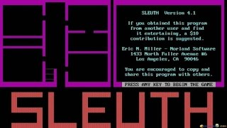 Sleuth - 1984 PC Game, introduction and gameplay