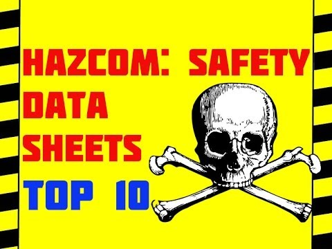 Safety Data Sheets - GHS -Top Ten Things To Know - Hazcom Safety For Work & Home